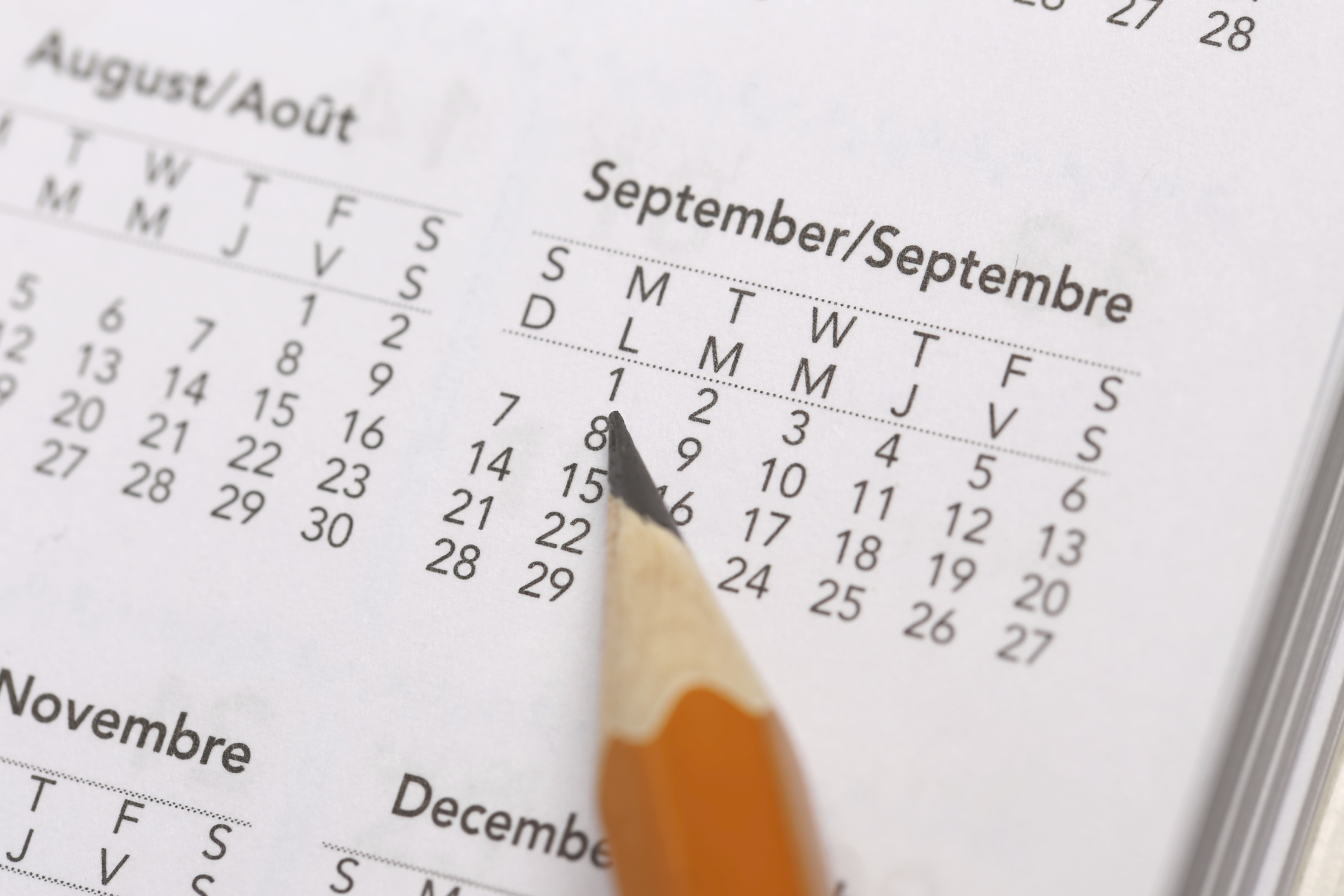 Calculate the date of birth on the day of conception and on the date of the last menstruation