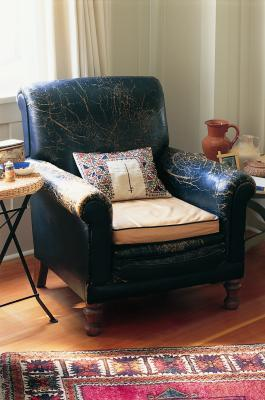 How To Refinish Leather Furniture With Deglazer And Dye