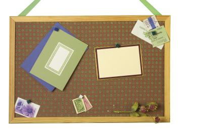 How to decorate a cute bulletin board with fabric for How to decorate a cork board