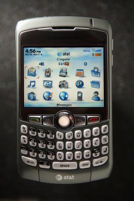 The BlackBerry Curve can be connected to either a Mac or PC for updates.