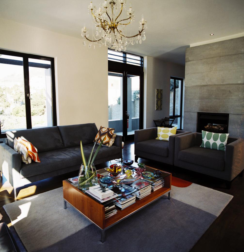 Df5411 esquemas de color casa exteriores con persianas negras -  Qu Colores De Cortinas Quedan Bien Con La Pintura Gris Ehow En Espa Ol