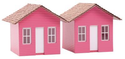 C mo hacer tejas de arcilla de papel para una casa de mu eca ehow en espa ol - Como hacer una casa de carton pequena ...