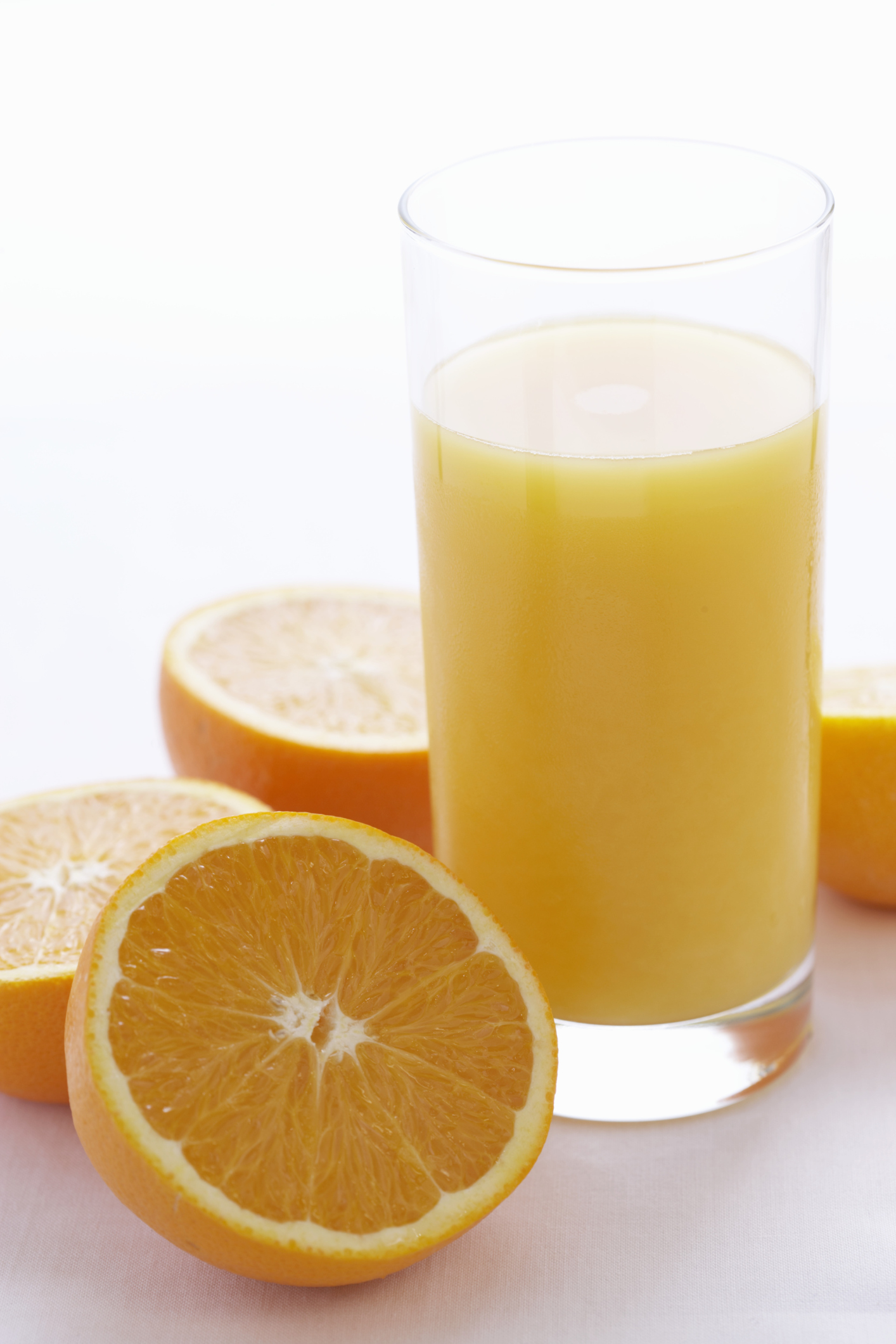 Orange juice is an excellent source of vitamin C.
