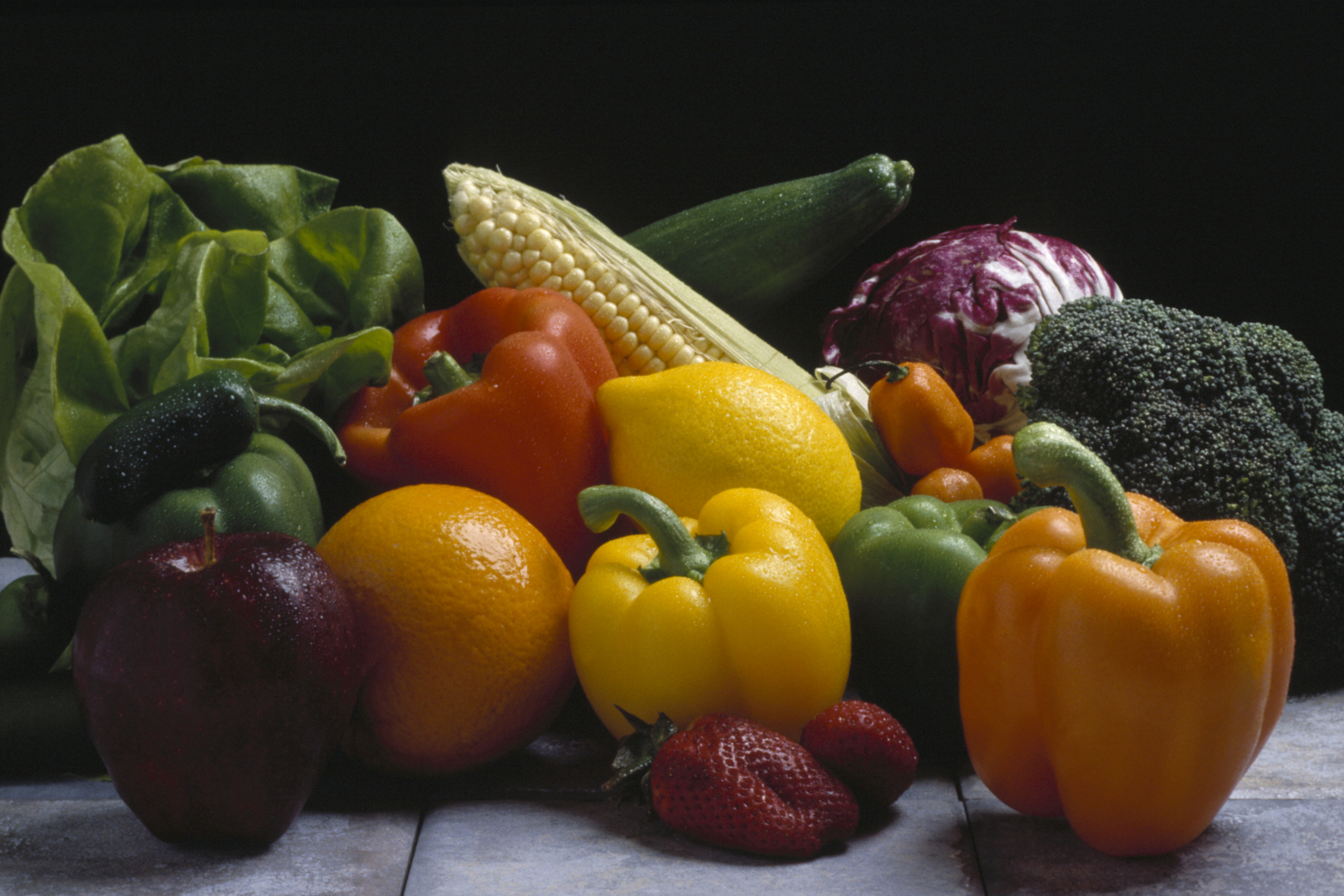 Fruits and vegetables are rich sources of dietary fiber.