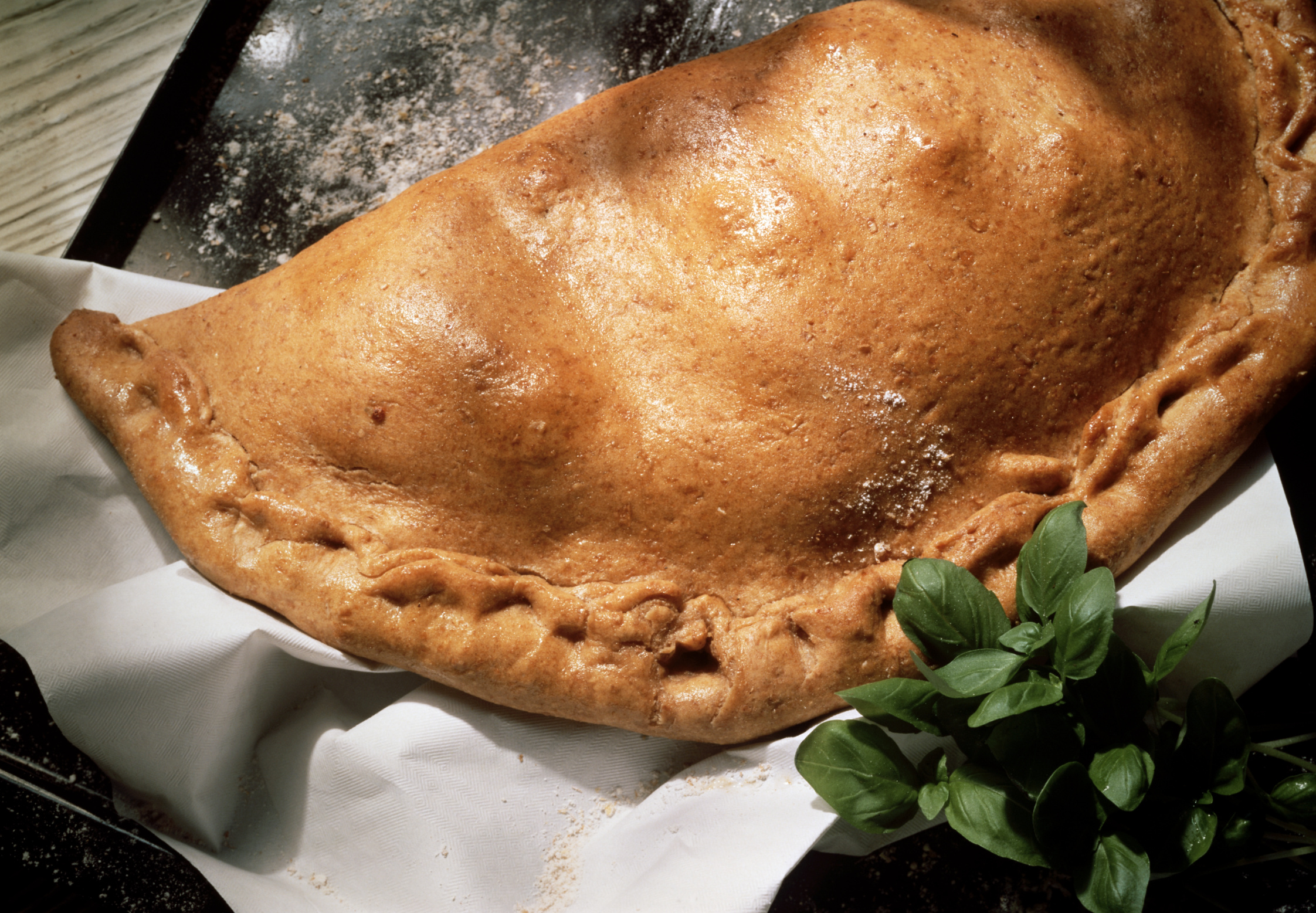 Chicken calzones are typically high in protein.