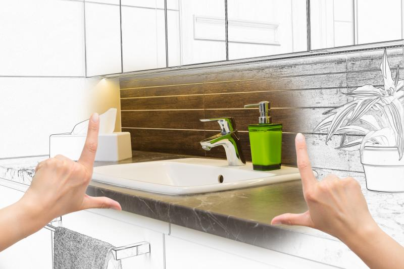 Remodeling Bathroom Slab Foundation how to remodel a bathroom in a slab house | home guides | sf gate