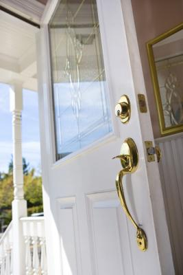 How To Put Curtains On A Front Door Without Drilling