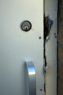 How to repair a damaged exterior door jamb home guides - Refinishing damaged wood exterior doors ...