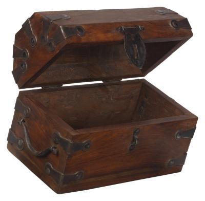 C mo decorar un ba l de madera que se utilizar como caja - Como decorar un baul de madera ...