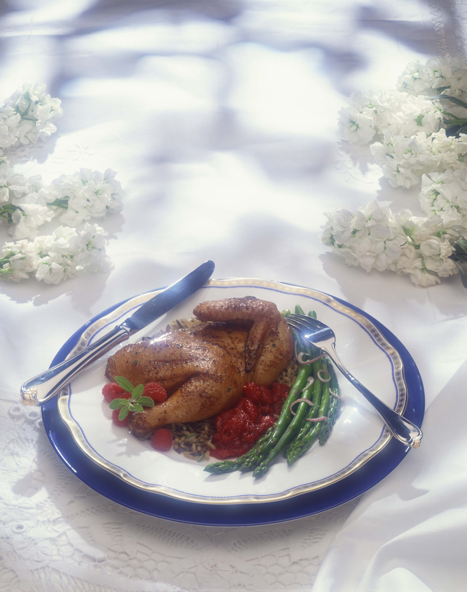 Raspberry sauce enhances meats and poultry.