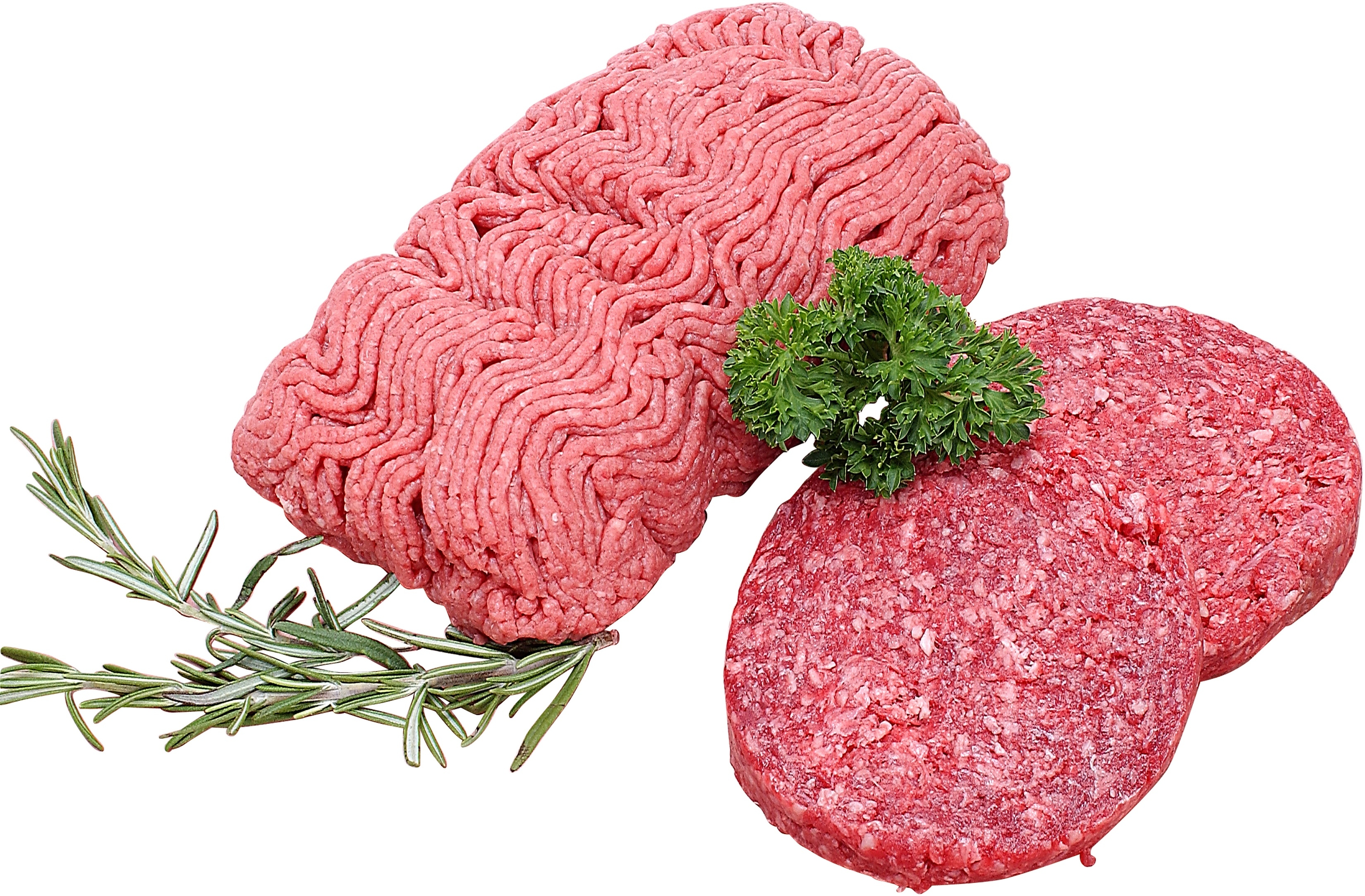 Freshly packaged ground beef typically does not contain sodium nitrite.