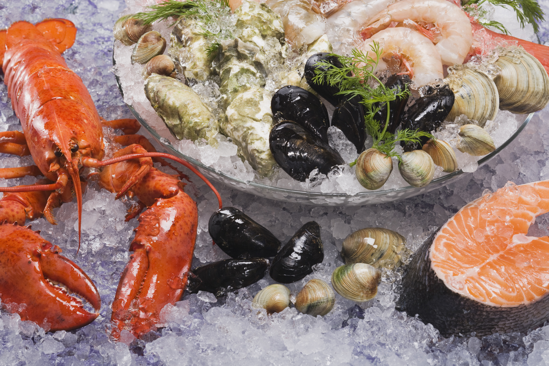 Fish and seafood are good sources of vitamin B-12.