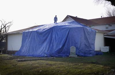 How To Use A Tarp To Slow A Leaky Roof Home Guides Sf Gate