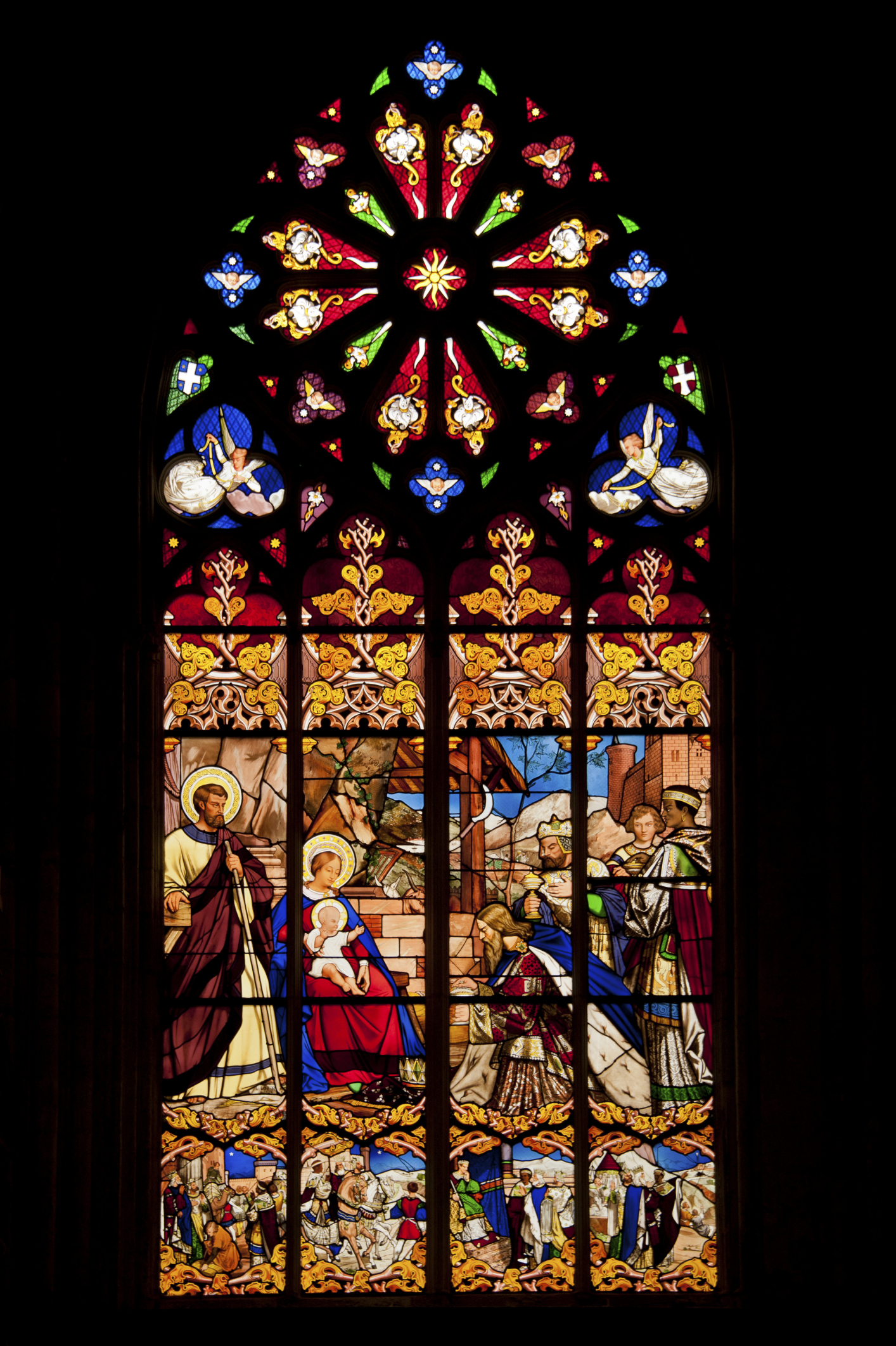 Stained Glass Windows : Why do churches have stained glass windows synonym