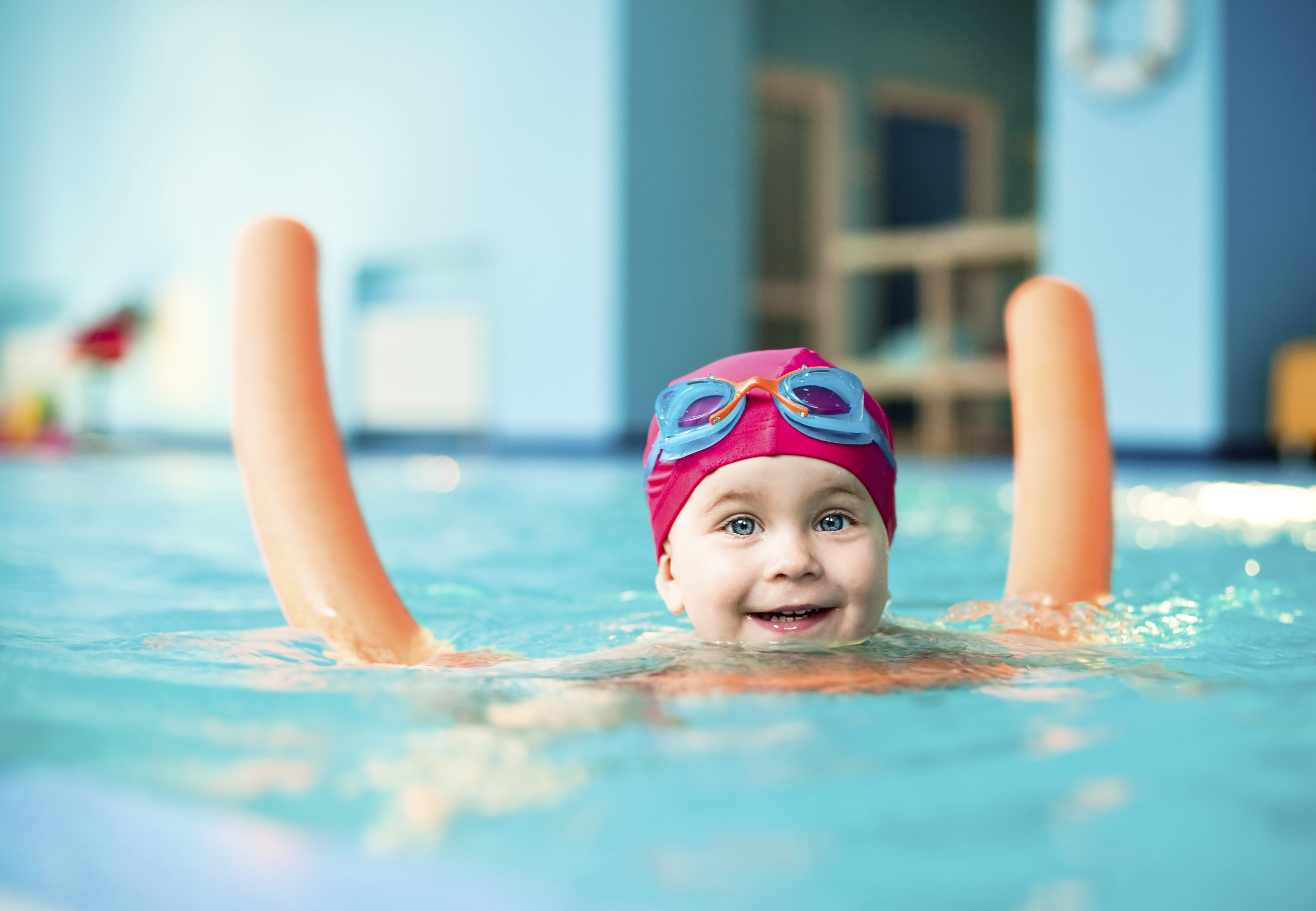 Baby swimming: 3 basic exercises
