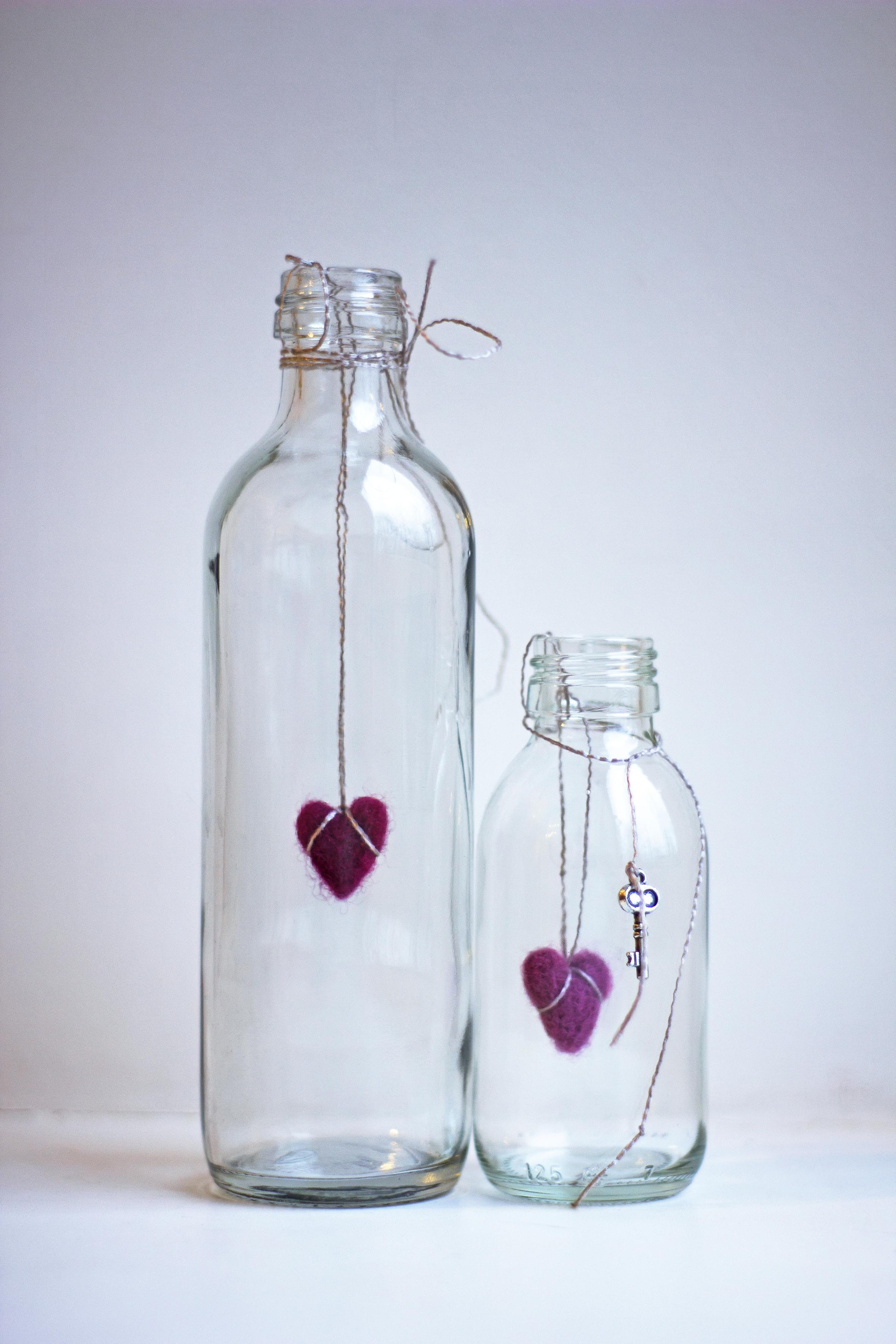 Como hacer adornos navidenos con botellas de vidrio