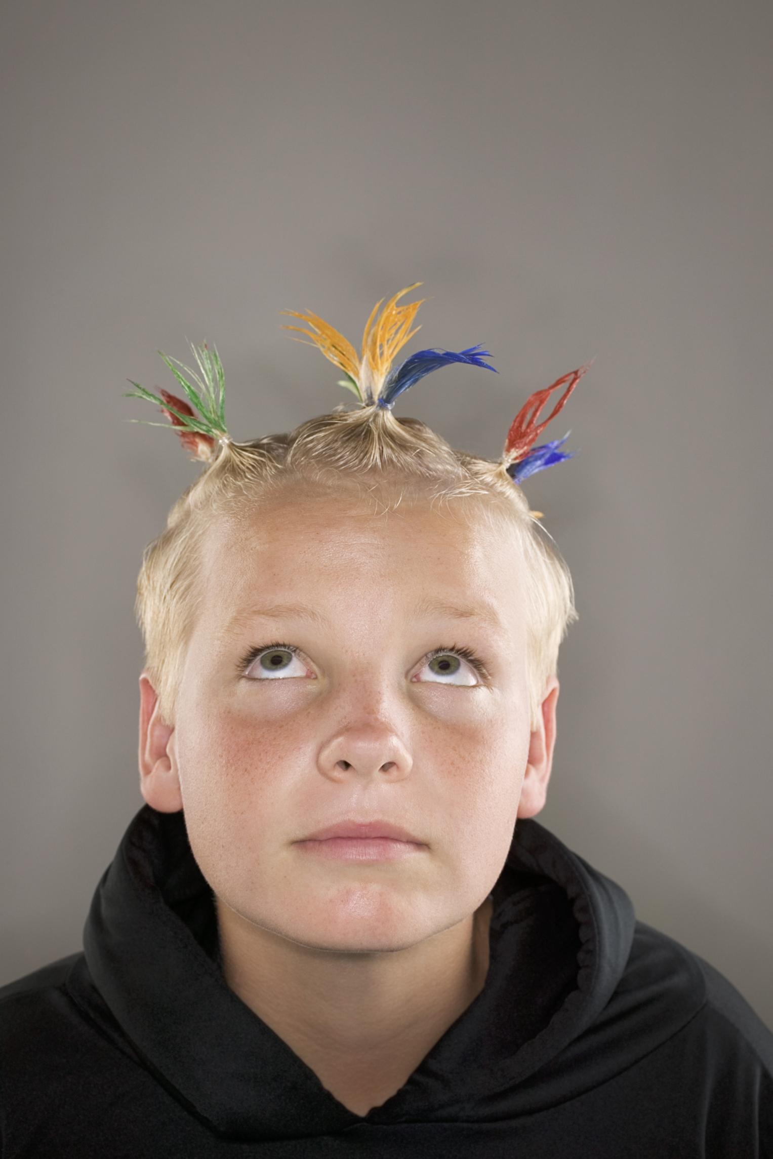 Peinados locos para ninos con cabello corto