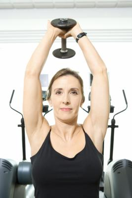 dumbbell exercises for underarm flab  chron
