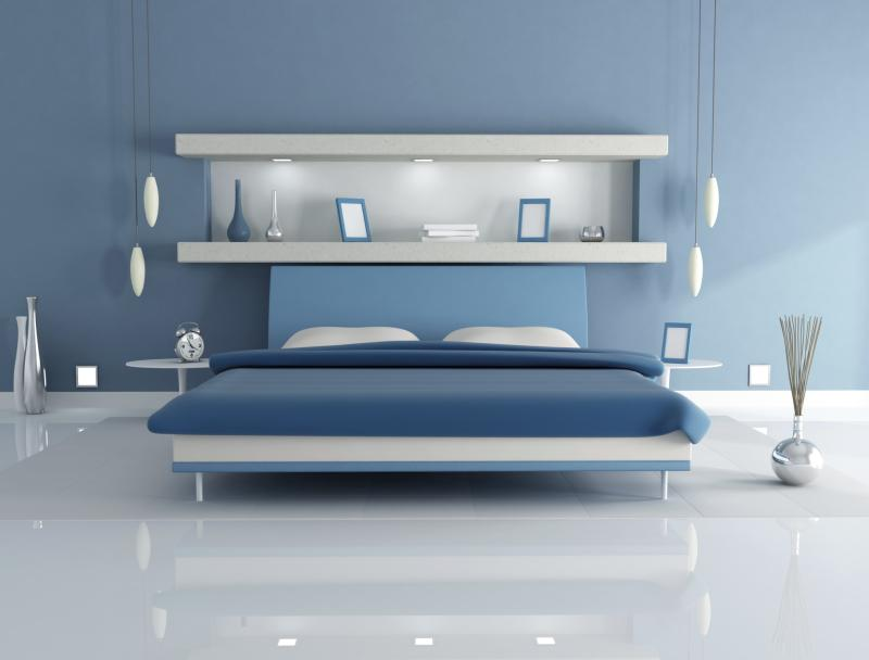 What Color Shelves Match Light Blue Walls