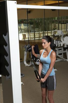 weight machine exercises for flabby underarms  chron