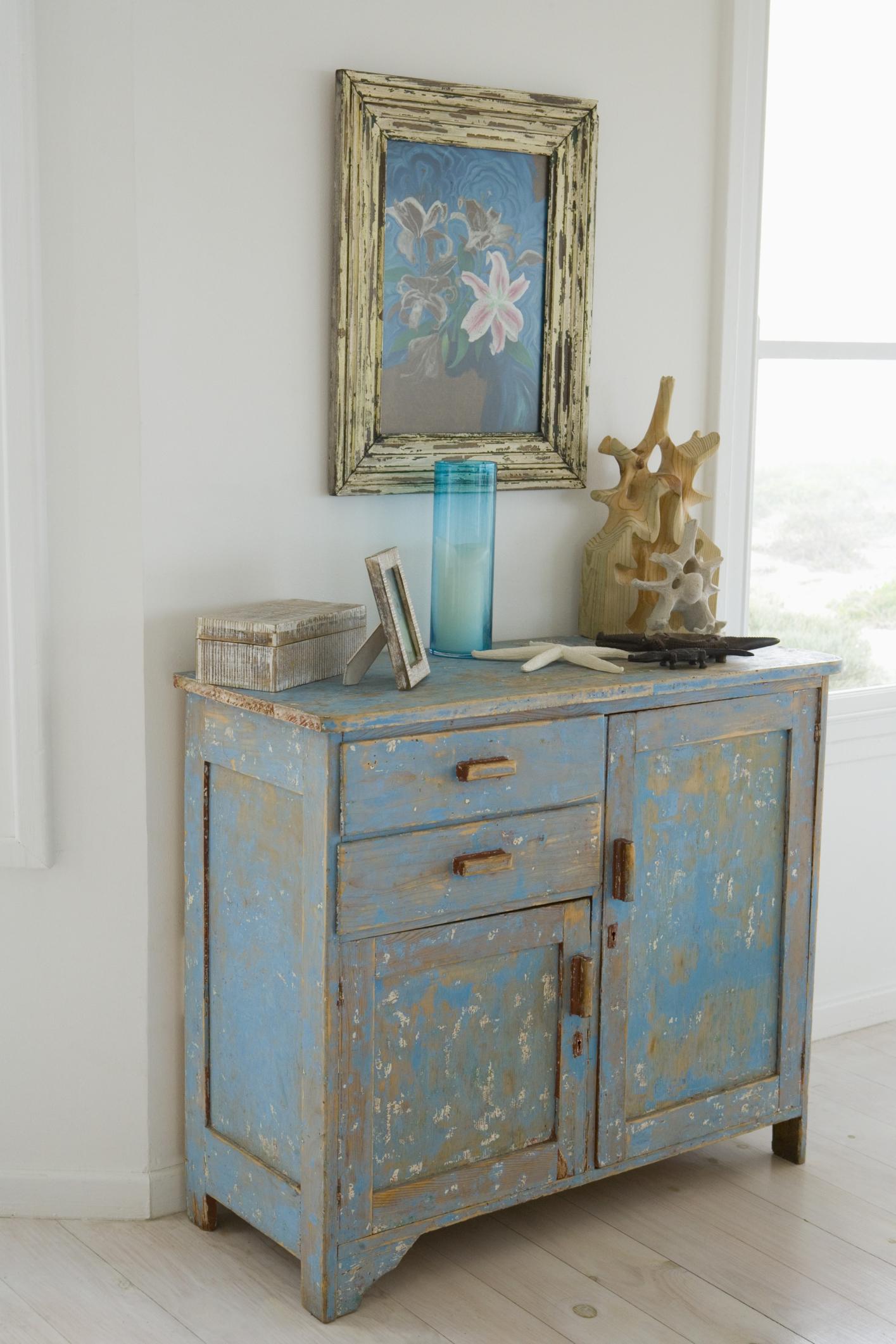 C Mo Pintar Muebles Para Darles Una Apariencia Desgastada Estilo  # Muebles Efecto Desgastado