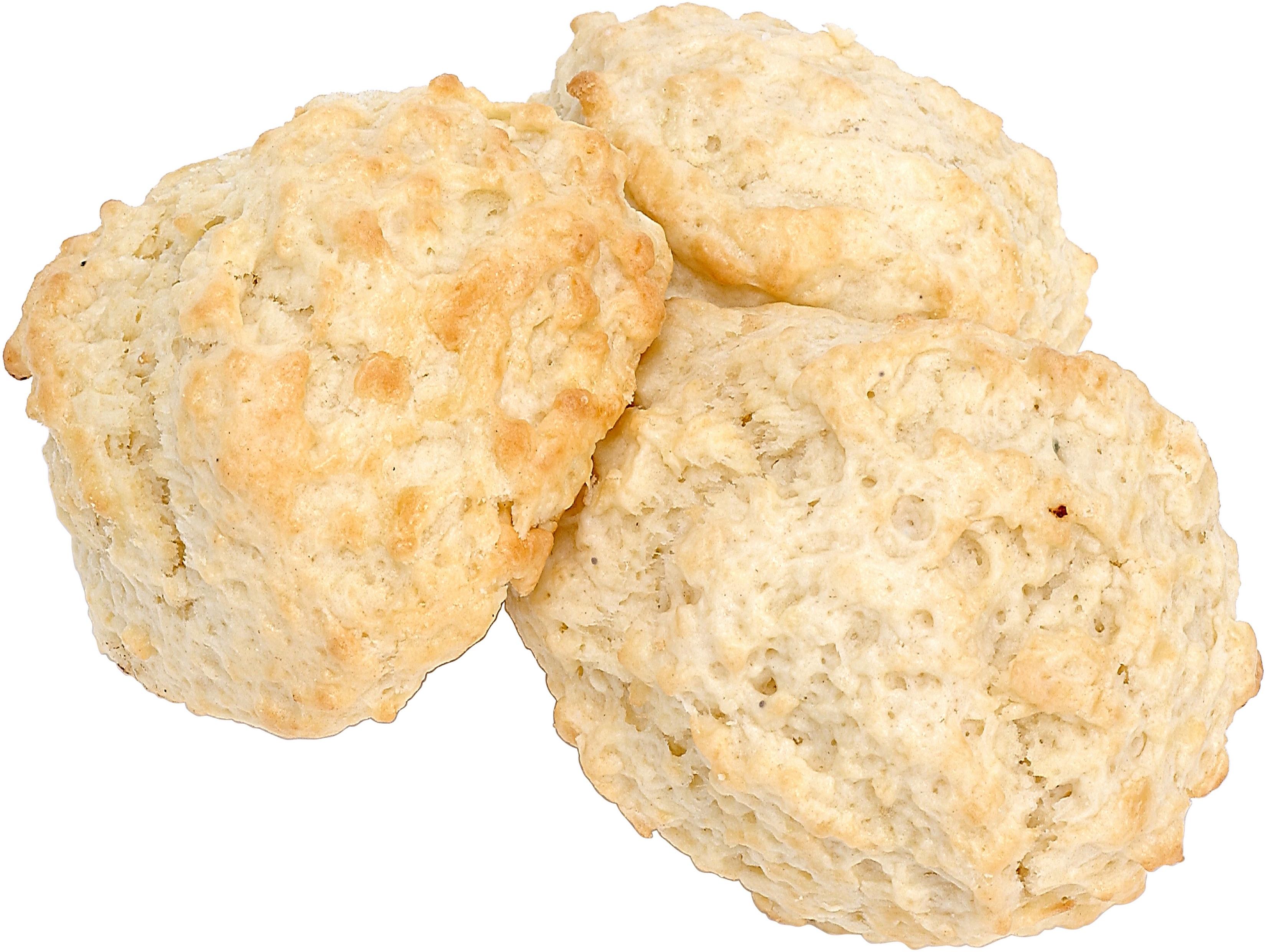 Os biscoitos de batata doce podem ser servidos com um assado ou comido para o café da manhã.