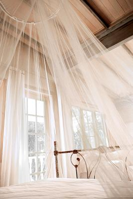 Bedroom Decorating Ideas With Tulle And Wall Drapes
