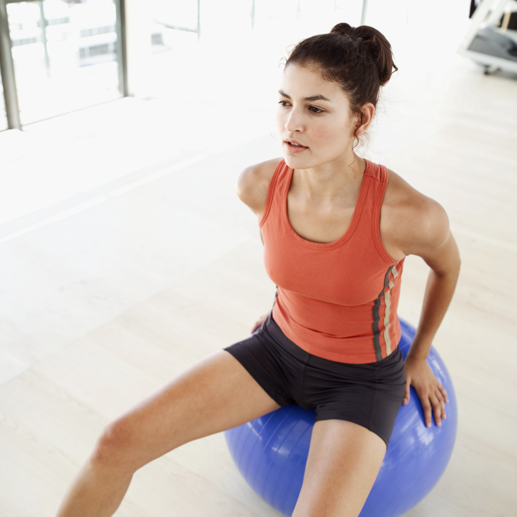 Horseback Riding Balance Ball Exercises