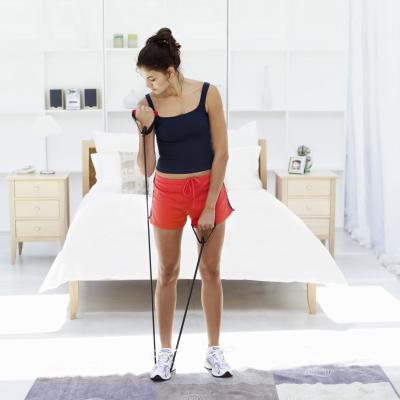 resistance band workout for women  woman