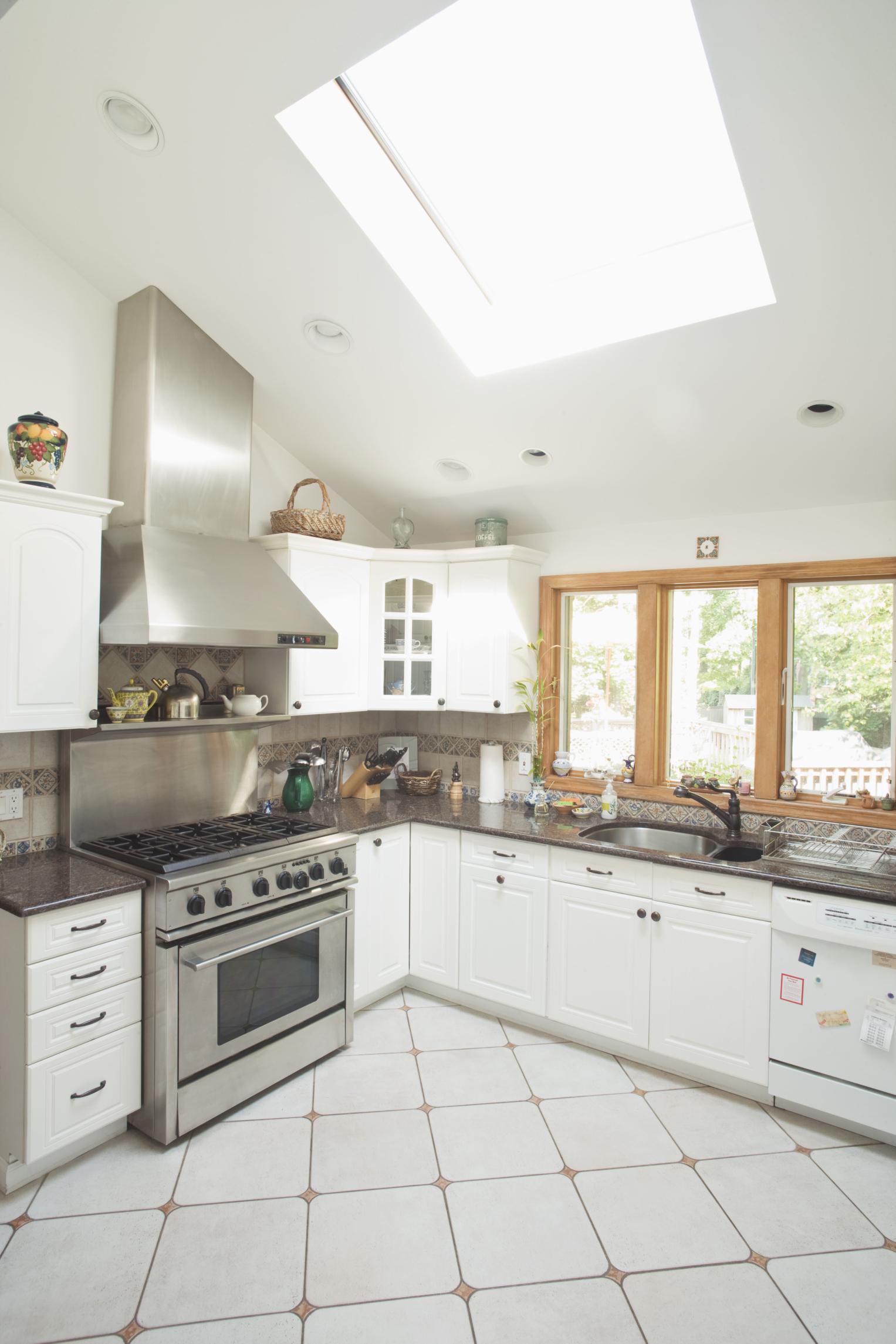 1980s White Melamine Kitchen Cabinets With The Oak Trim ...