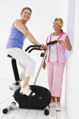 how much weight can a person lose riding an exercise bike