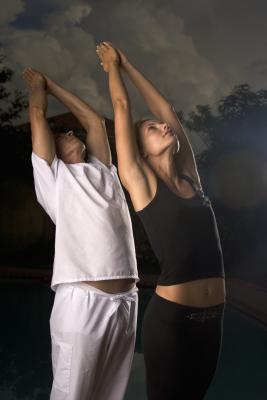 moon prayer salutation yoga workouts  healthy living