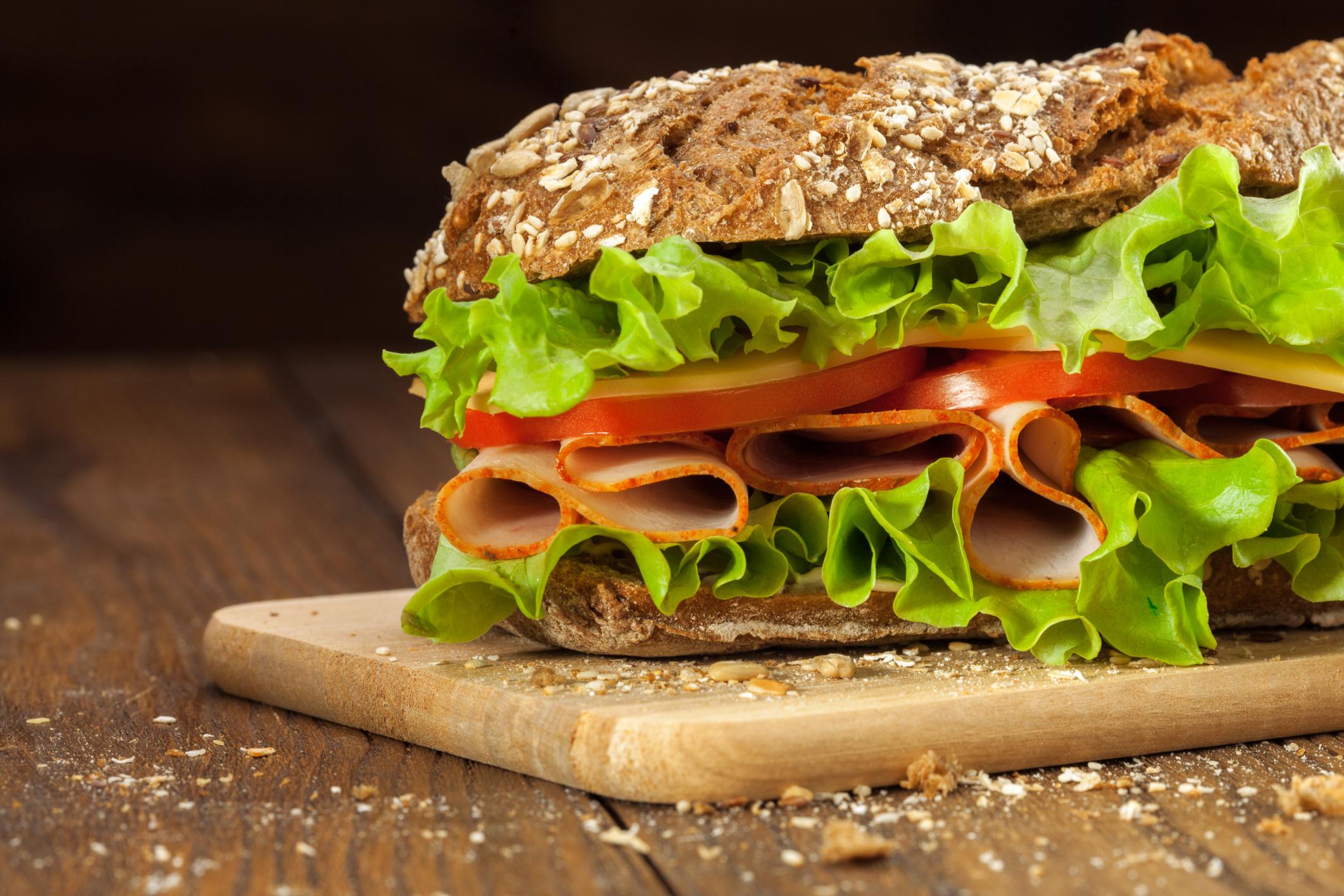Subway 6 Inch Ham & Cheese on Wheat Bread